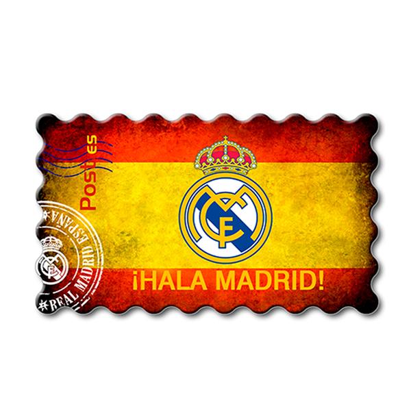 Imanes Real Madrid Sello Bandera