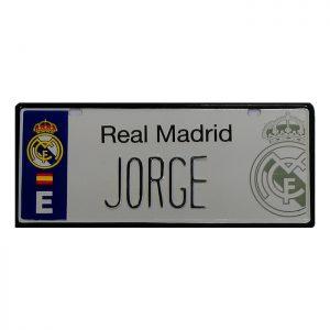 Merchandising Real Madrid Matrículas