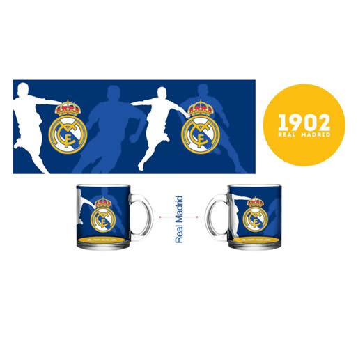 Merchandising Real Madrid Taza Estadio Vidrio Azul